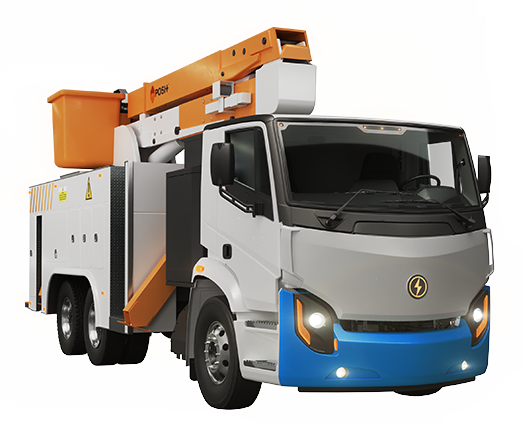Lion8 Bucket Truck - All-Electric, Zero-Emission Bucket Truck | Lion Electric