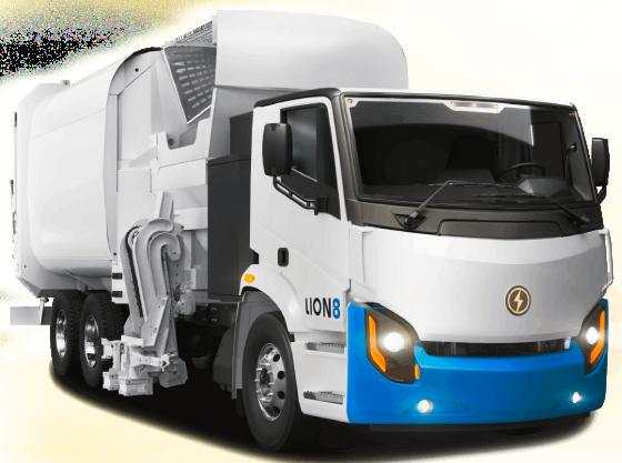 Lion8 Tandem - All-Electric, Zero-Emission EV Truck | Lion Electric